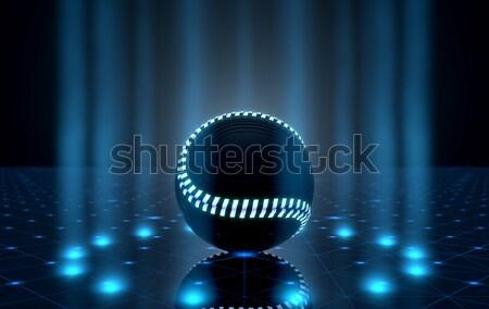 Ball On Spotlit Stage Stock photo © albund