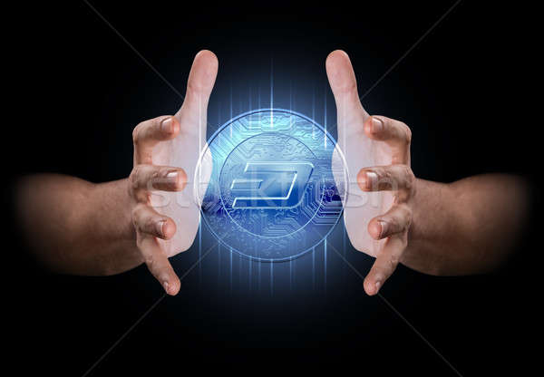 Hand Conjuring Cryptocurrency Stock photo © albund