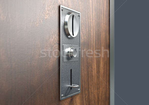 Vintage Chrome Coin Receptacle Stock photo © albund