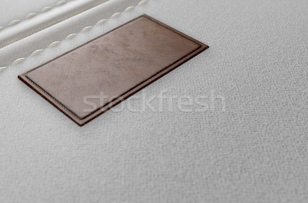 Canvas Material And Leather Label Stock photo © albund