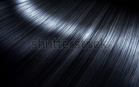 Brillante pelo negro primer plano vista Foto stock © albund