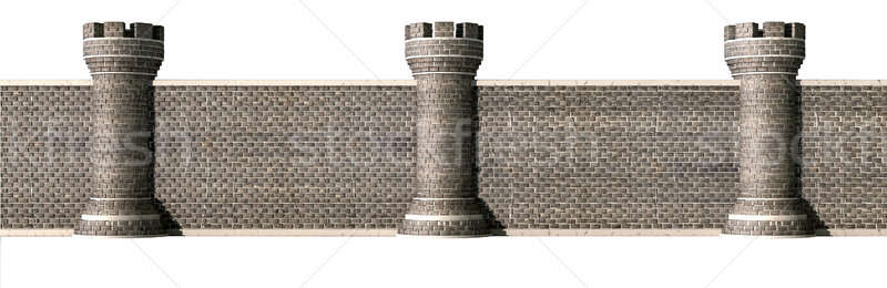 Gothic Castle Wall Front Stock photo © albund