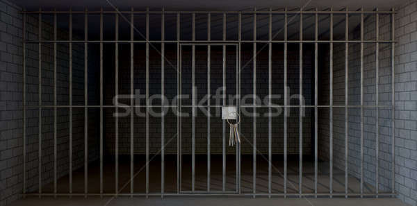 Jail Cell Full View With Keys Stock photo © albund