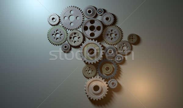 African Cogwheel Machine Stock photo © albund