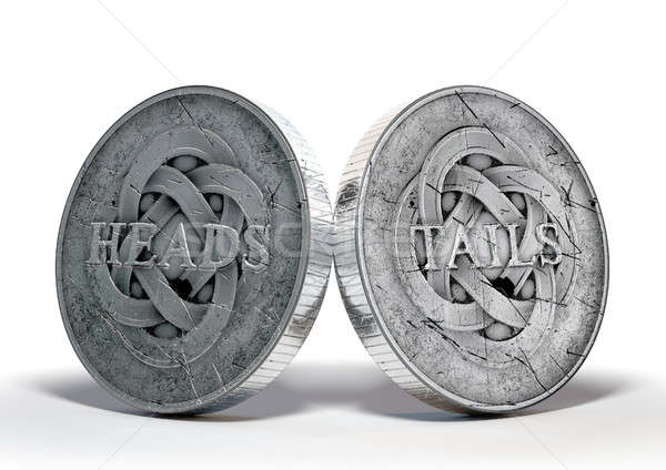 Antigo moedas imagem tanto moeda Foto stock © albund
