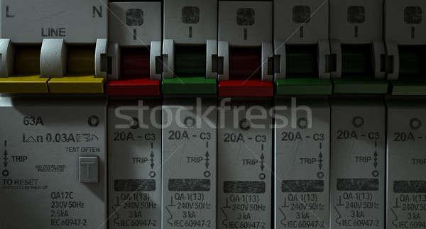 Elétrico circuito painel casa Foto stock © albund