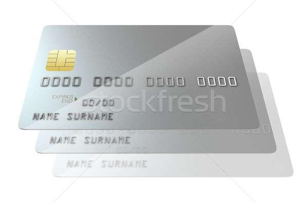 Banco cartão de crédito ver prata Foto stock © albund