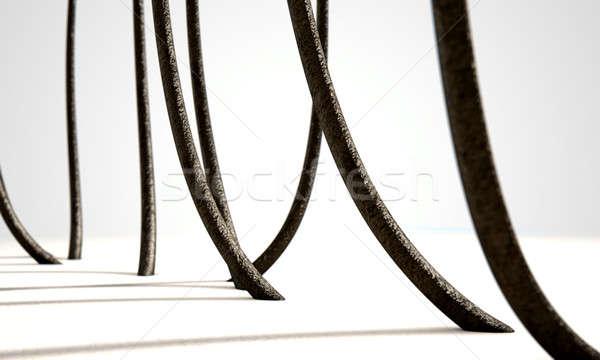 Microscopica capelli rendering 3d primo piano view Foto d'archivio © albund