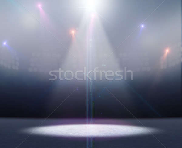 Ice Rink Stadium Spotlight Stock photo © albund