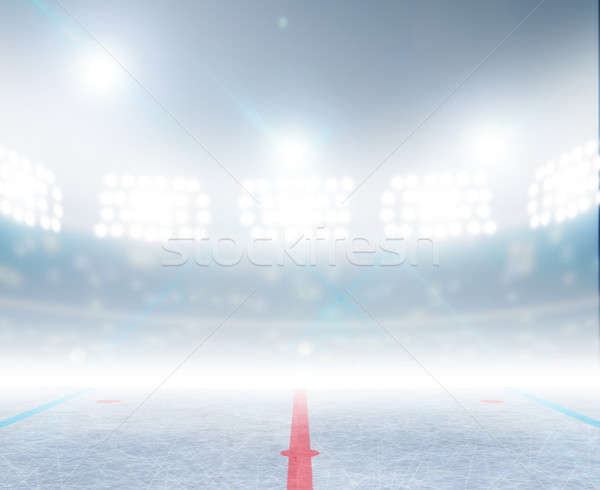 Ice Hockey Rink Stadium Stock photo © albund