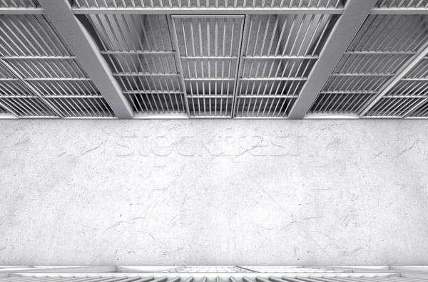 Cella di prigione corridoio top dirigere view fila Foto d'archivio © albund