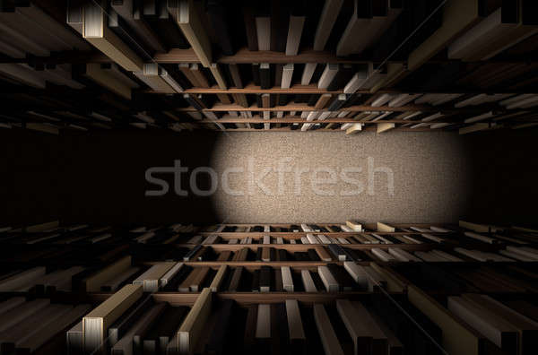 Library Bookshelf Aisle Stock photo © albund