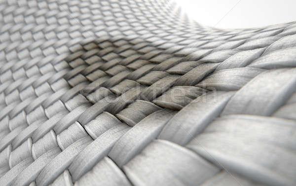Micro tessuto macchia rendering 3d microscopica view Foto d'archivio © albund