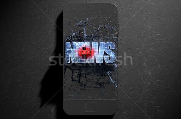 Fake News Cloner Smartphone Stock photo © albund