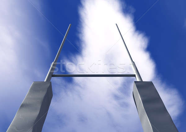 Stock photo: Rugby Posts Front