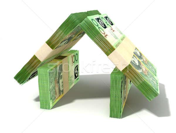 Foto stock: Australiano · dólar · notas · casa · perspectiva · um