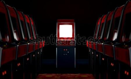 Arcade Aisle With One Illuminated  Stock photo © albund