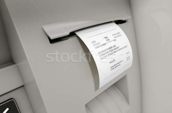 Stock photo: ATM Slip Withdrawel Receipt