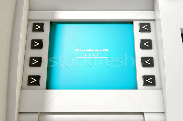 ATM Screen Enter PIN Code Stock photo © albund