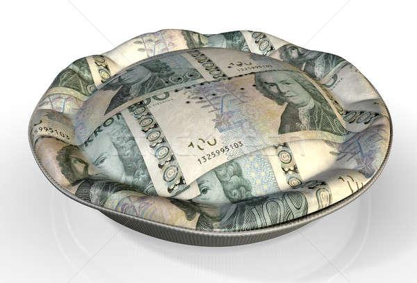 Money Pie Swedish Kronor Stock photo © albund