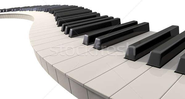Teclas de piano completo establecer regular fuera ola Foto stock © albund
