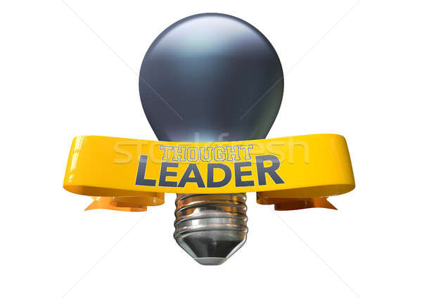Thought Leader Light Bulb And Banner Stock photo © albund
