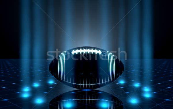 ボール ステージ 未来的な スポーツ サッカー ネオン ストックフォト © albund