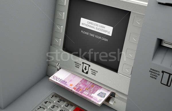 Atm Cardless Cash Withdrawal Stock photo © albund