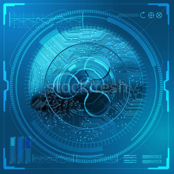 Cryptocurrency Ripple Futuristic Stock photo © albund