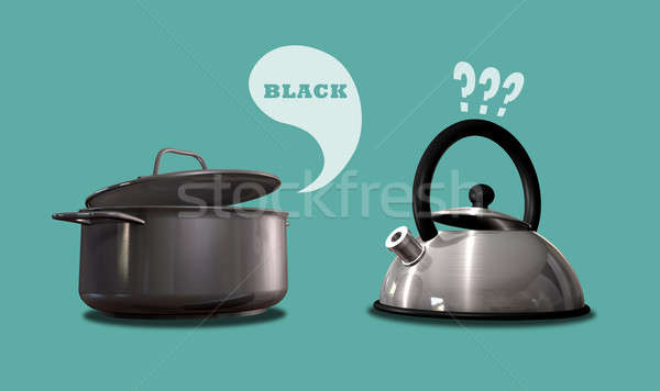 Pot Calling The Kettle Black ~ The pot calling kettle black stock photo allan swart