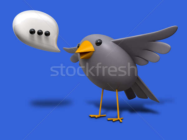 Stock photo: A Little Bird Told Me