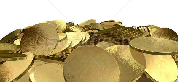 куча Золотые монеты выстрел изолированный монетами Сток-фото © albund