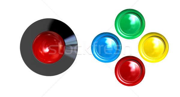 Arcade Control Joystick And Buttons Stock photo © albund