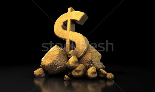 Gold Dollar Sign Stock photo © albund