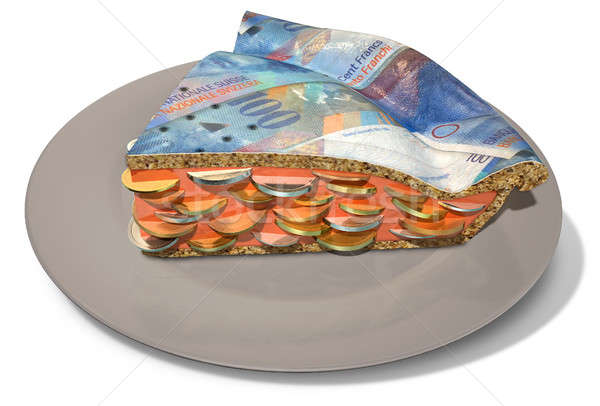 Plakje geld taart regelmatig Stockfoto © albund