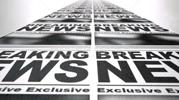 Newspaper Press Run Stock photo © albund