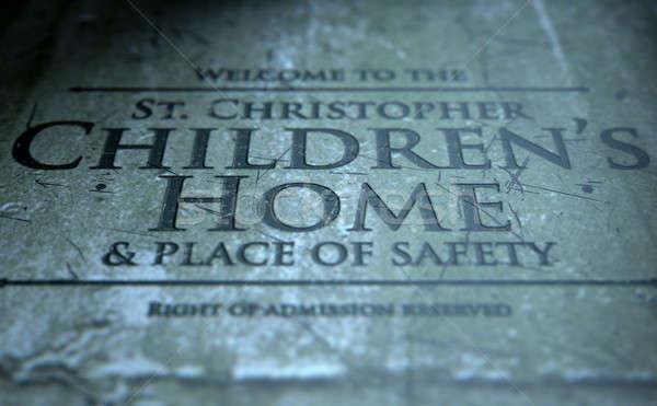 Orphanage Signage Stock photo © albund