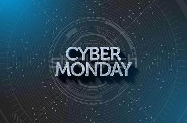 Cyber Monday Text On Black Stock photo © albund