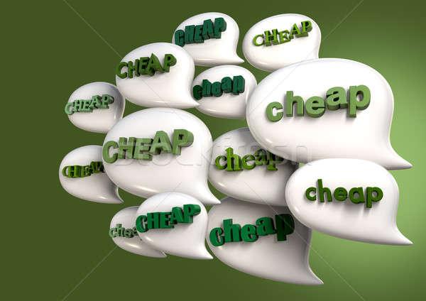 Konuşmak ucuz toplama beyaz kelime Stok fotoğraf © albund