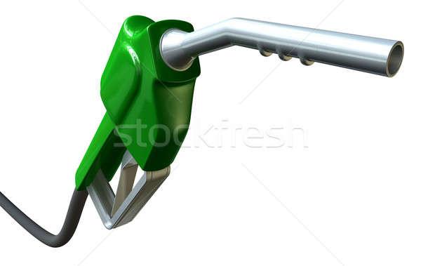Petrol Handle And Nozzle Perspective Stock photo © albund