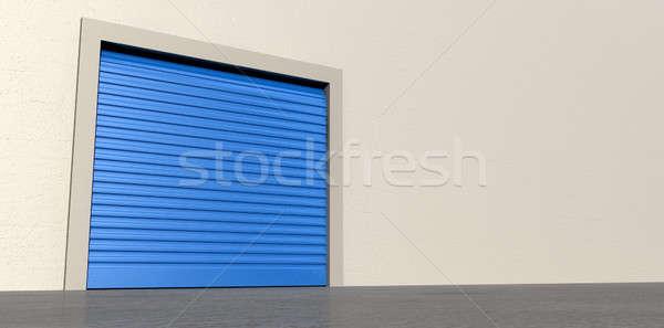 Storage Door and Wall Closed Stock photo © albund