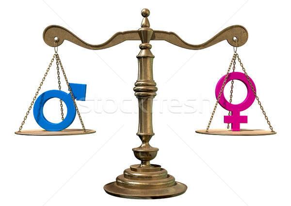 Gender Equality Balancing Scale Stock photo © albund