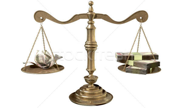 Stock photo: Inequality Scales Of Justice Income Gap India
