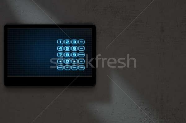 Modern Interactive Home Security Stock photo © albund