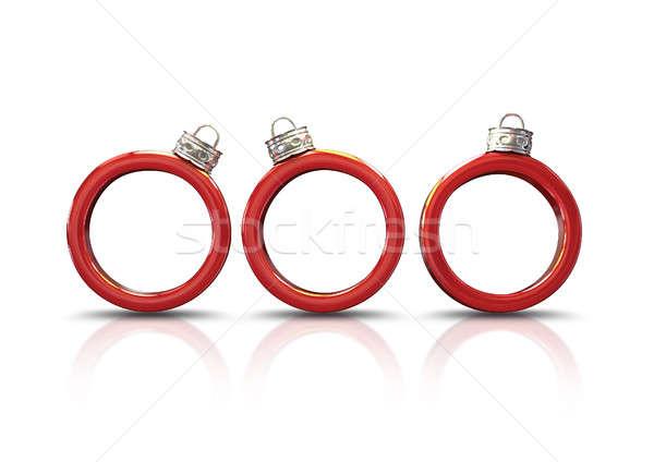 Rosso Natale set tre anello Foto d'archivio © albund
