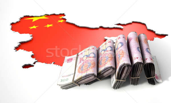 Recessed Country Map And Cash China Stock photo © albund