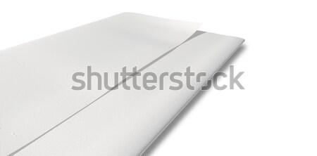 Doblado blanco papel perspectiva pieza hasta Foto stock © albund