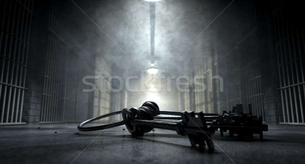 Jail Corridor And Keys Stock photo © albund