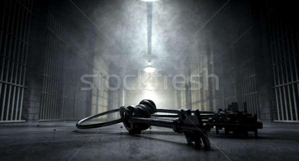 Więzienia korytarz klucze obraz więzienia Zdjęcia stock © albund