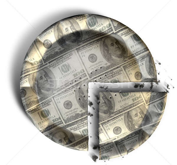 Slice Of US Dollar Money Pie Stock photo © albund